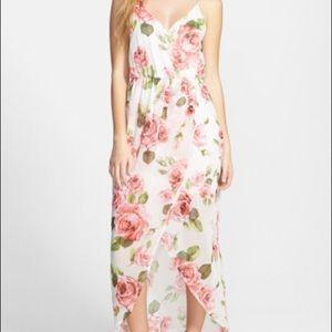Nordstrom Lush Tulip Hem Maxi Dress
